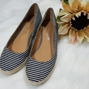 AEO espadrille striped low wedges - slip ons
